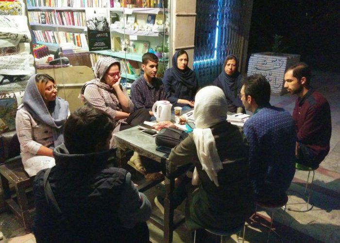 بزرگداشت علی اشرف درویشیان در کتابفروشی طاقچه کرمان