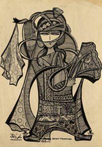 یک نمونه از نقاشیهای ژازه طباطبایی