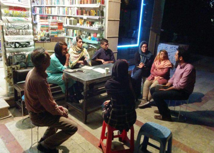 جلسه معرفی کتاب بینش و انگیزه فردی در کتابفروشی طاقچه کرمان